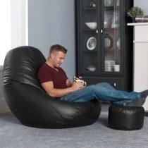 Gamer XXL Textilbőr Fotel + Ajándék Puff