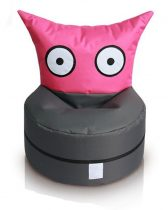 OWL a cuki lény gyermek babzsákfotel (pink-antracit)