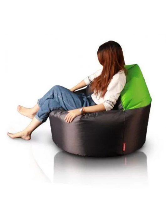 XL 2in1 fotel-puff (lime-sötétbarna)
