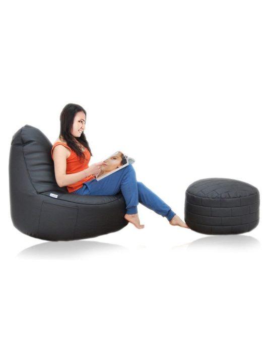 XXL textilbőr fotel + Ajándék puff