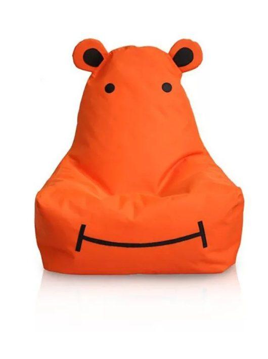 HIPPO a víziló gyermek babzsákfotel (narancs)